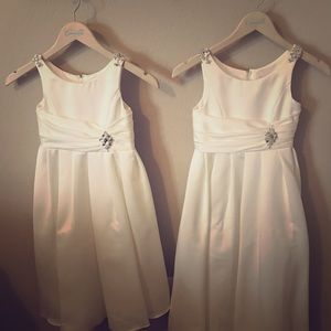 2 formal (flower-girl) dresses, size 5 and 7